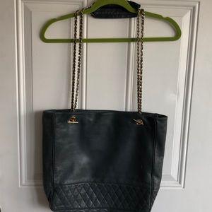 Handbags - Slate colored HIGH quality leather tote